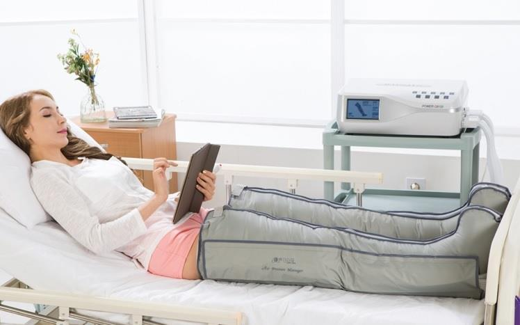 Lymphdrainage Beine mit dem Profi Drainage Q8120