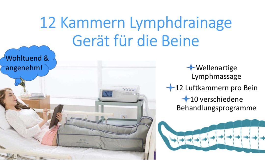 12 Kammern Lymphdrainage Gerät für die Beine