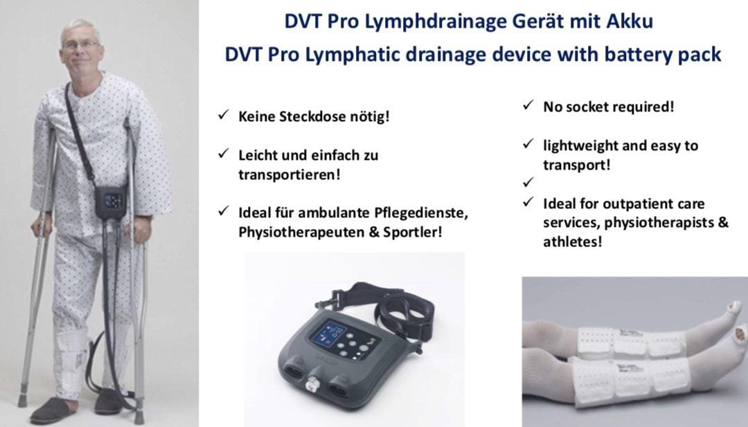 DVT Pro – Das Lymphdrainage Gerät, das keinen Strom benötigt!