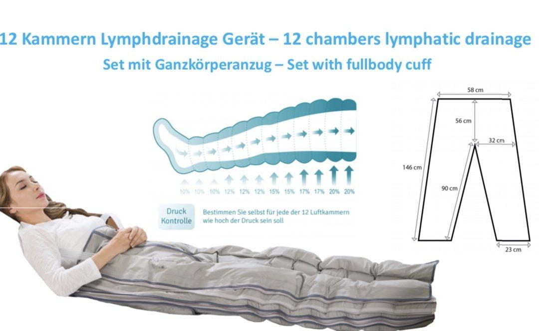 12 Kammern Lymphdrainage Gerät – 12 chambers lymphatic drainage