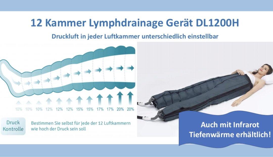 12 Kammer Lymphdrainage Gerät mit oder ohne Infrarot