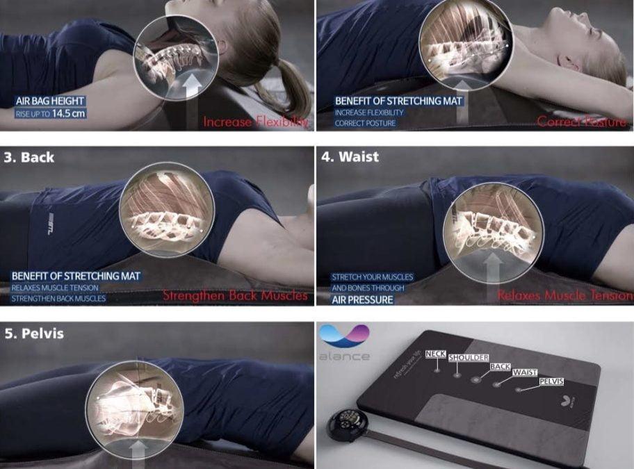 Massagematte mit 5 Luftkammern